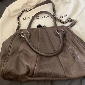 Charcoal Lambskin Sunburst Stam Bag